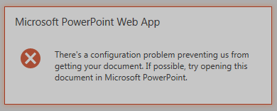 Powerpoint web app error 1