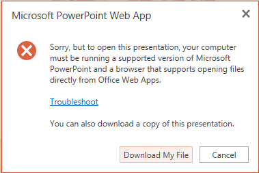 Powerpoint web app error 2