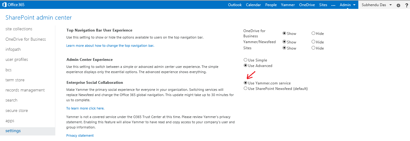 Moving from Yammer Basic to Yammer Enterprise for Office 365
