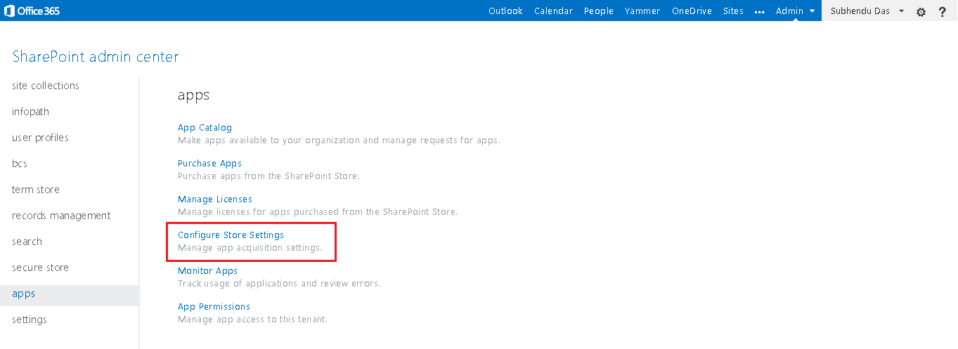 Managing App Permission in O365 1