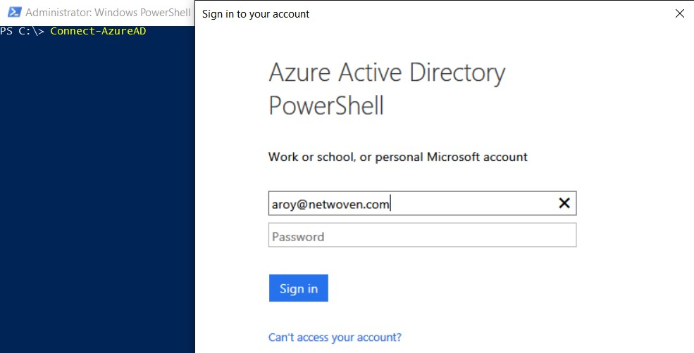 Changing UPN of Federated User in Azure/O365 - using Azure
