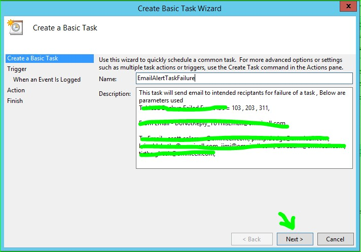 "Send an e-mail"" -Windows Server 2012 Task Scheduler"