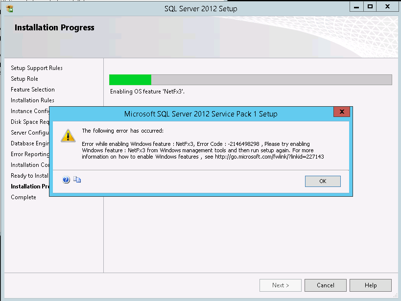 How to install  Net Framework 3 0/3 5(NetFx3) on Windows Server 2012