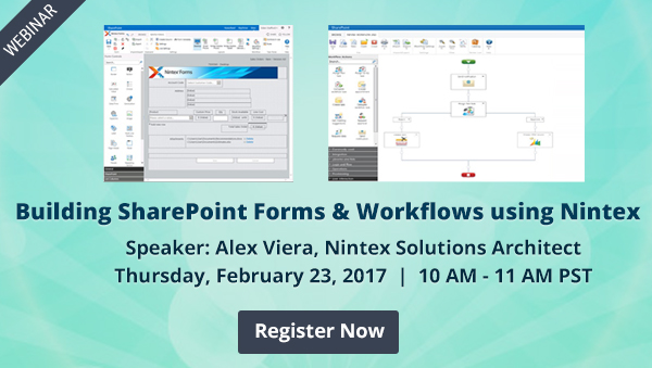 Introduction to Nintex - Building SharePoint/O365 Forms and Workflows