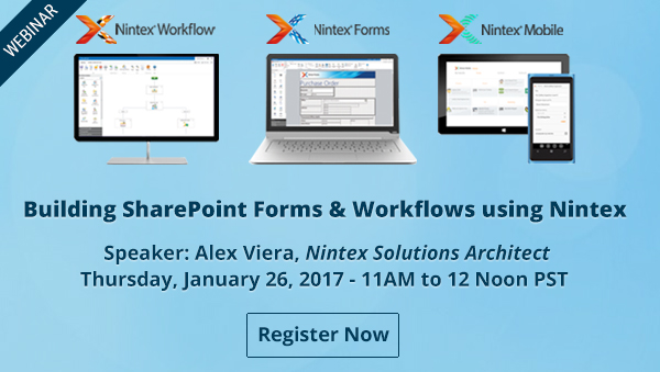 Building SharePoint Forms & Workflows using Nintex