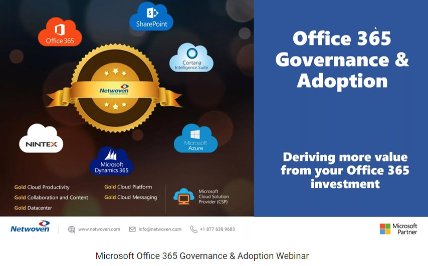 Office 365 Governance & Adoption Webinar