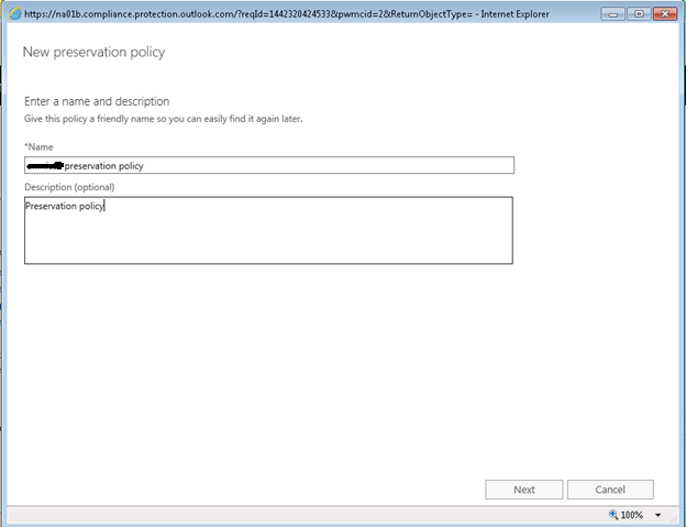 Office 365 Security Compliance – Legal Hold