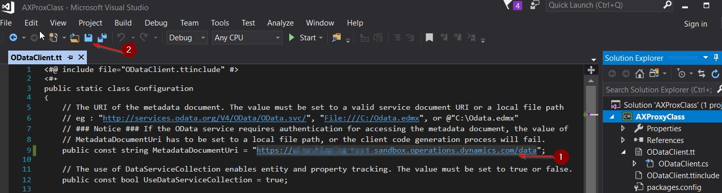 How to create client-side OData proxy dll for Microsoft Dynamics 365 for Finance & Operations (AX)?