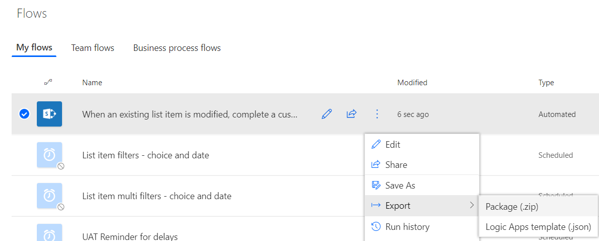 How to Export and Import Microsoft Teams Flows