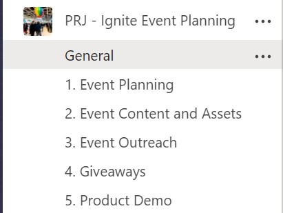 Building the right event planning team using Microsoft Teams