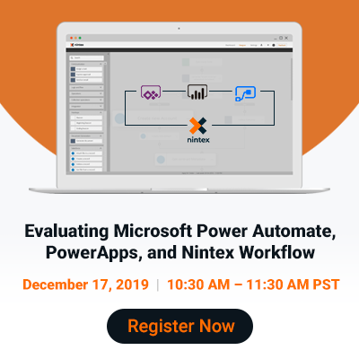 Evaluating Microsoft Power Automate, PowerApps, and Nintex Workflow