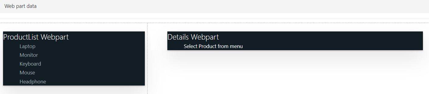 Data flow in between multiple SPFX Webparts using Dynamic Data
