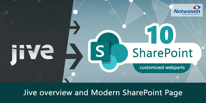 Jive Overview and Modern SharePoint Page with 10 Customized Webparts - Part 2