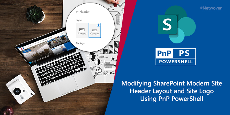 Modifying SharePoint Modern Site Header Layout and Site Logo Using PnP PowerShell