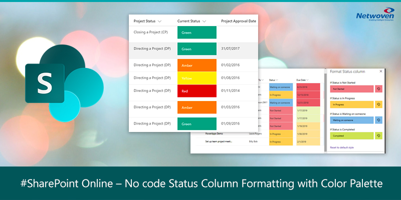 SharePoint Online – No code Status Column Formatting with Color Palette