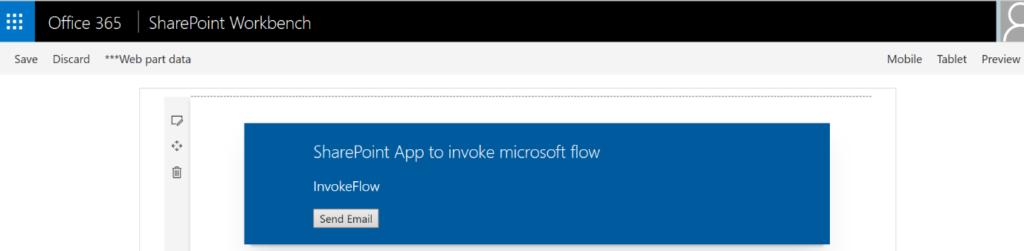 Triggering Microsoft Flow from SPFx Application