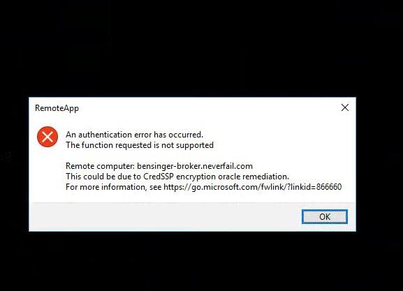 [Solved] CredSSP Encryption Oracle Remediation