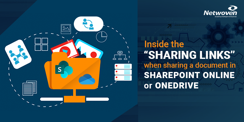 "Inside the ""Sharing Links"" when Sharing a Document in SharePoint Online or OneDrive"