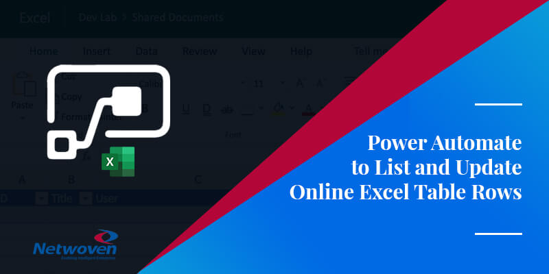 Power Automate to List and Update Online Excel Table Rows
