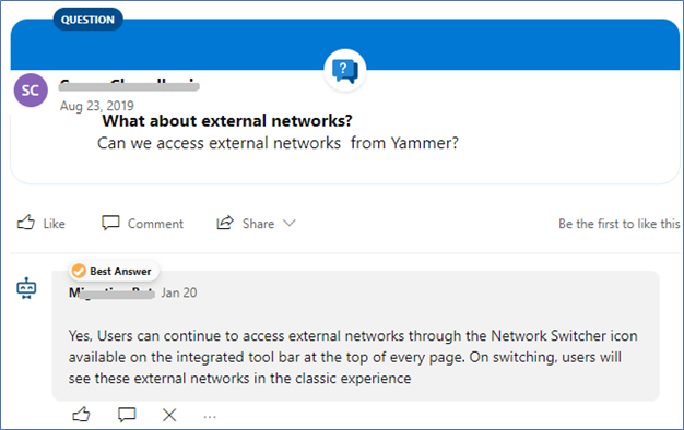 How to Post A Yammer Question - Answer and Mark The Best Answer Via The Yammer API