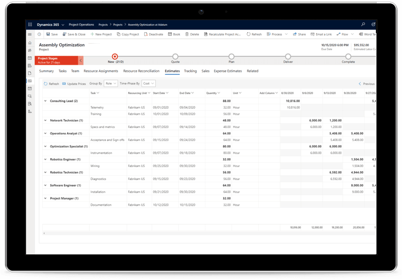 Drive project success and profitability with Project Operations